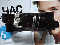 Модный кожаный ремень Massimo Dutti темно-коричневый, фото 1