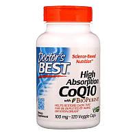 Коэнзим Q10 с высокой степенью всасывания с BioPerine, Doctor's Best, 100 мг (120 капсул)