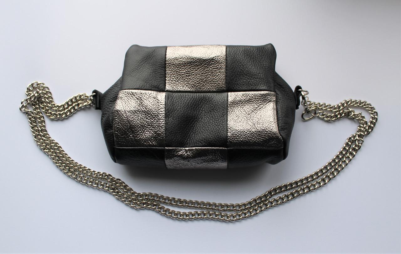 """Маленькая женская сумка-косметичка """"Mini"""" из натуральной кожи"""