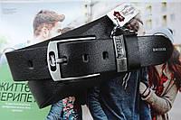 Мужской кожаный ремень Lacoste для джинсов, фото 1