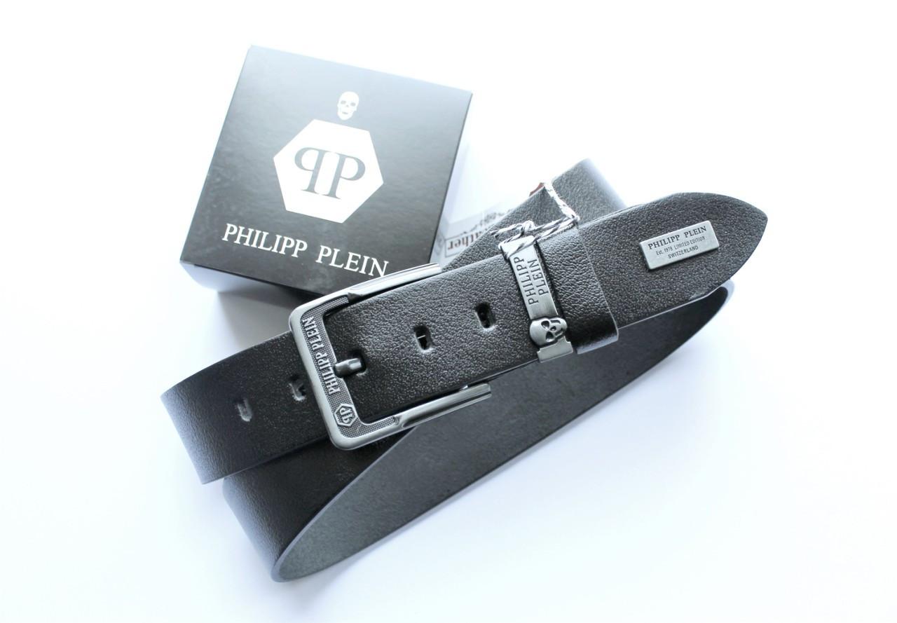 Мужской кожаный ремень Philipp Plein для джинсов