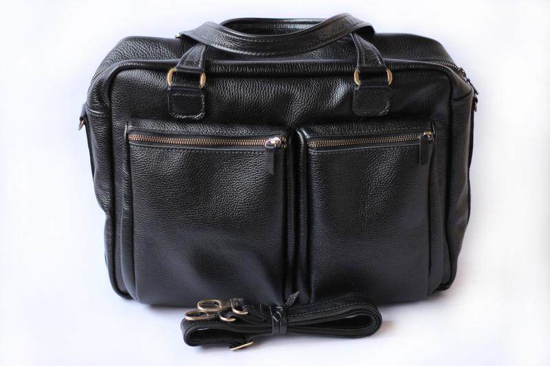 Мужская сумка большая вместительная, ручная работа