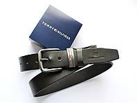 Мужской кожаный ремень Tommy Hilfiger коричневый, фото 1