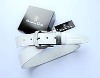 Модный кожаный ремень Massimo Dutti белый, фото 1