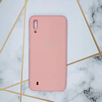 Силиконовый матовый чехол Silicone Case для Samsung Galaxy M10 Розовый