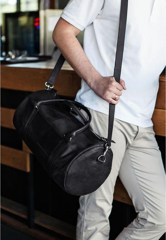 """Мужская сумка """"Black_Lab"""" из натуральной кожи"""