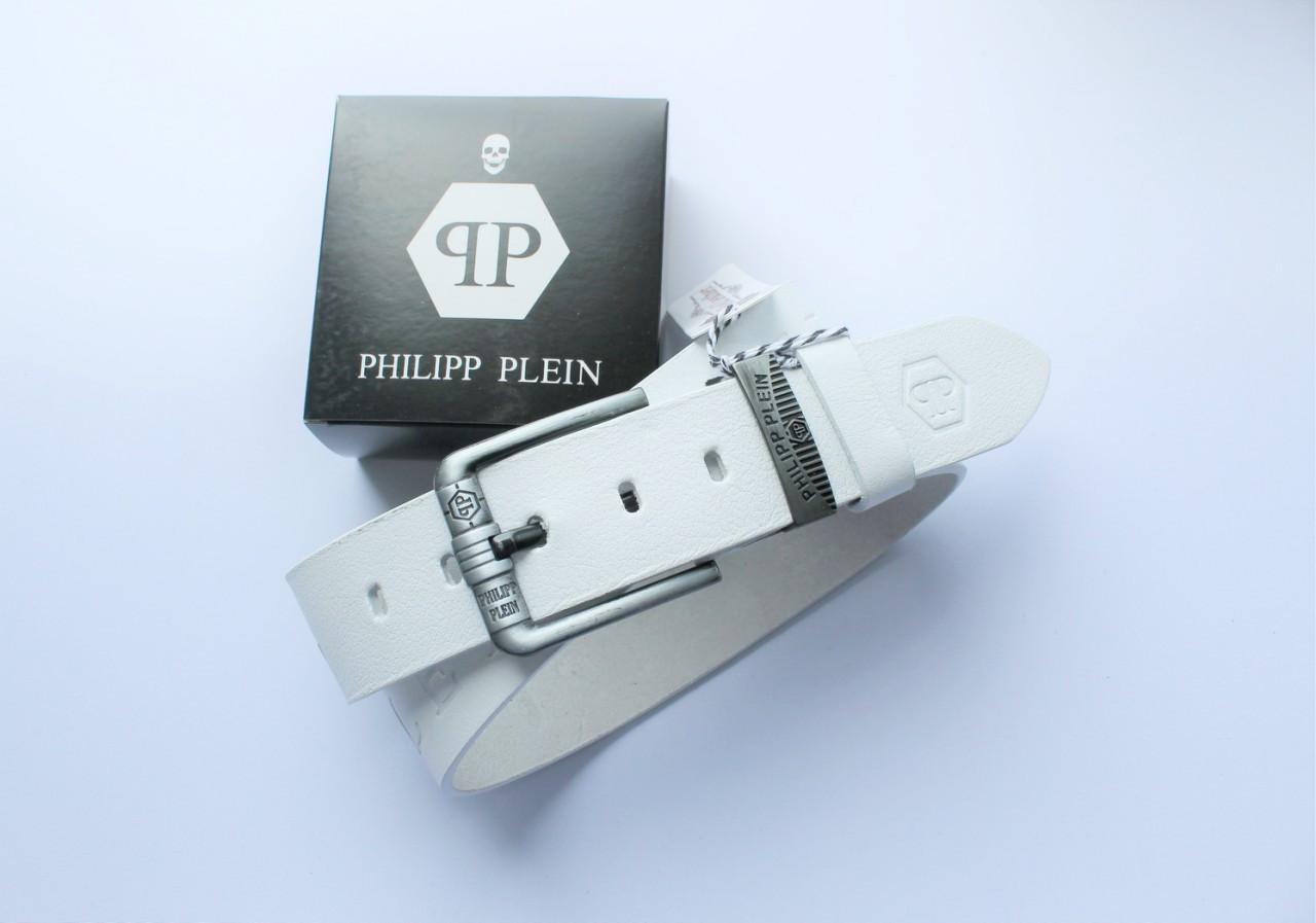 Ремень Philipp Plein для джинсов белый