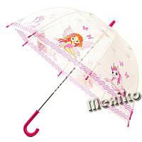Прозрачный детский зонт Zest,Англия. Расц. Фея с лошадкой