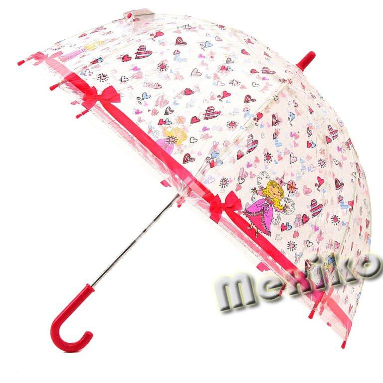 Прозрачный детский зонт Zest. Расцветка Принцесса