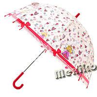 Прозрачный детский зонт Zest. Расцветка Принцесса, фото 1