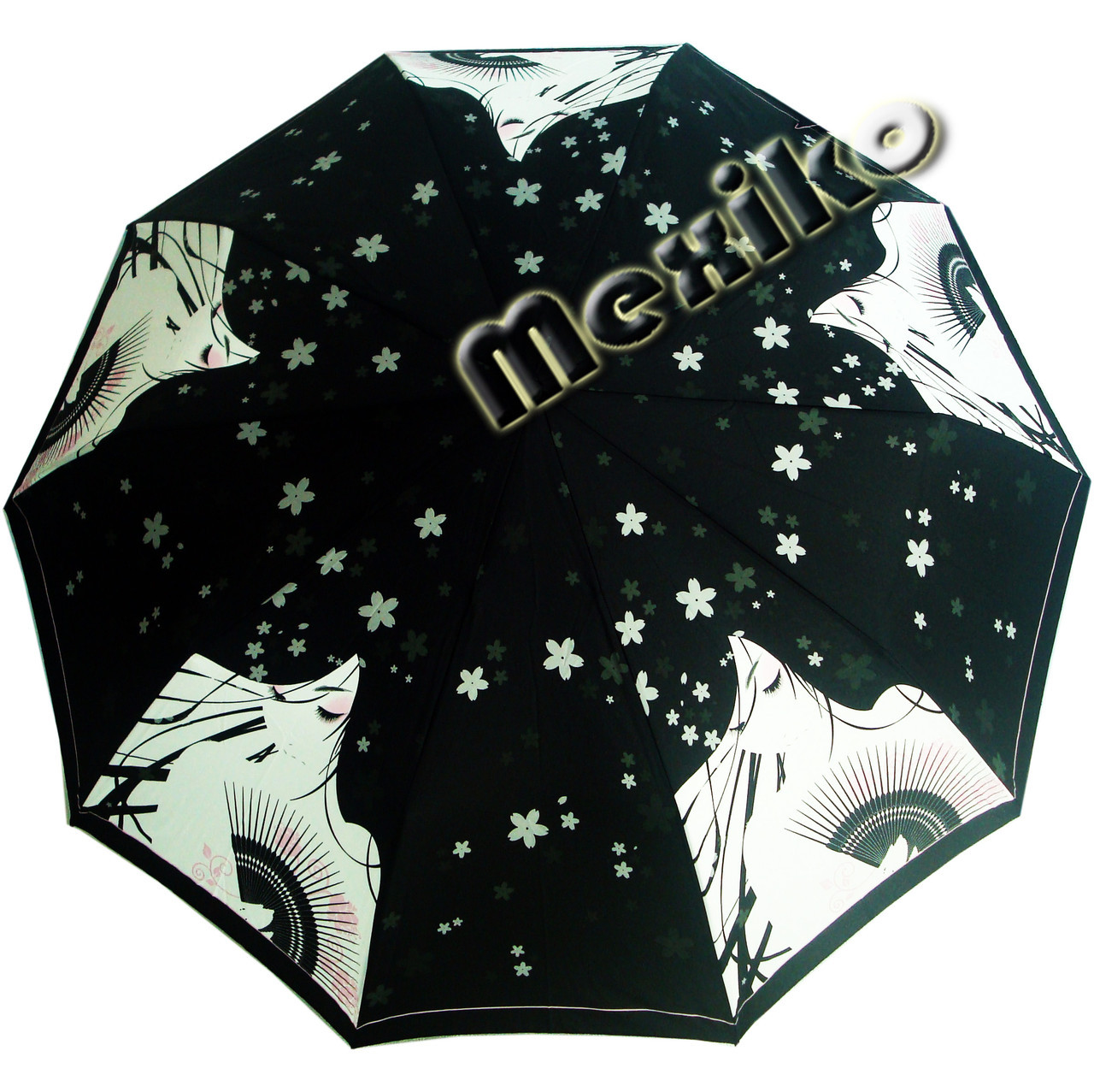 Зонт ZEST, полуавтомат серия 10 спиц, расцветка Девушка с веером