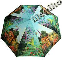 Зонт ZEST, полуавтомат серия Фото, расцветка Замок  в сирени, фото 1
