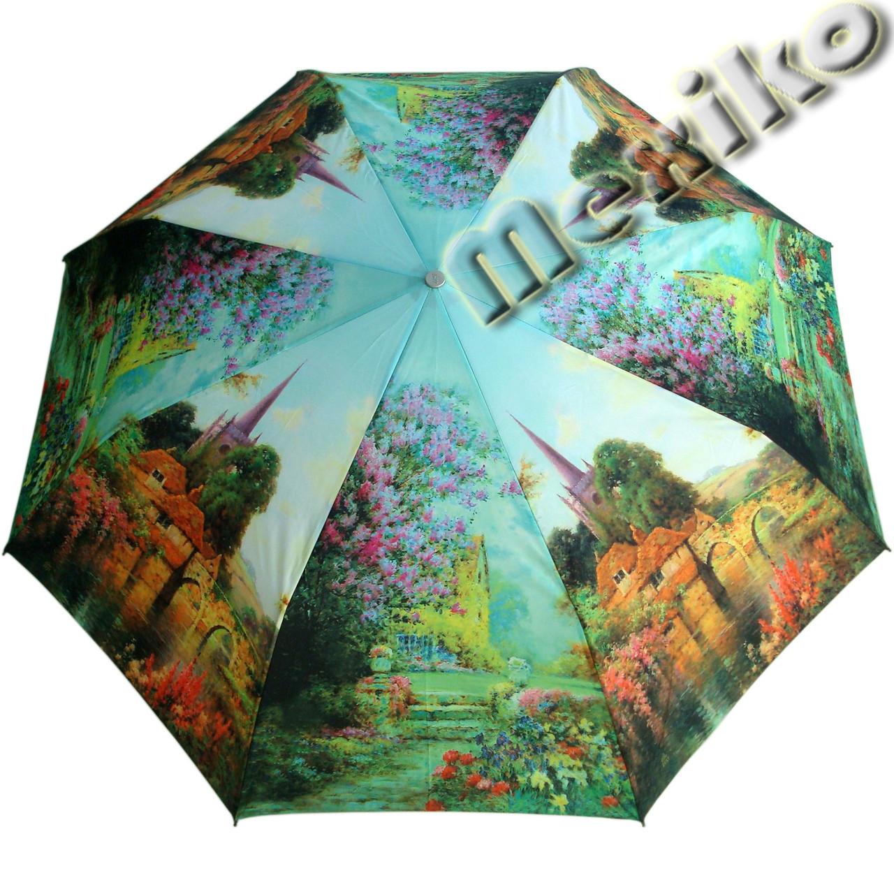 Зонт ZEST, полуавтомат серия Фото, расцветка Замок  в сирени