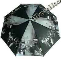 Женский зонт ZEST полный автомат серия Фото, расцветка Черно-белый город, фото 1
