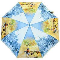 Компактный женский зонт ZEST 4 сложения  полуавтомат серия Фото, расцветка Лондон, фото 1