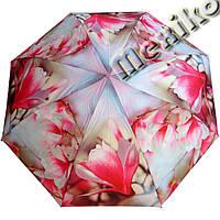 Компактный женский зонт ZEST 4 сложения  полуавтомат серия Фото, расцветка Цветок Сакуры, фото 1