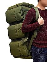 Сумка-рюкзак транспортная дорожная универсальная на 90л TacticBag Олива, фото 2