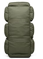 Сумка-рюкзак транспортная дорожная универсальная на 90л TacticBag Олива, фото 3