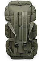 Сумка-рюкзак транспортная дорожная универсальная на 90л TacticBag Олива, фото 4