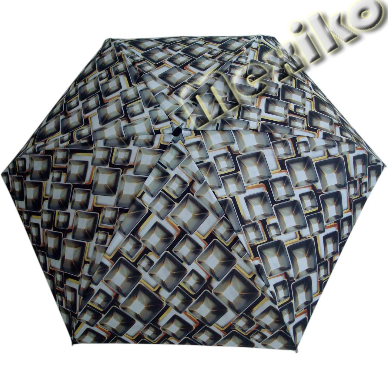 Зонт ZEST женский механика 5 сложений, цветной плоский. Расцветка №25