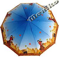 Зонт ZEST, полный автомат серия 10 спиц, расцветка Девушка с котом