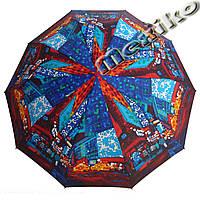 Зонт ZEST, полный автомат серия 10 спиц, расцветка Ночной город, фото 1