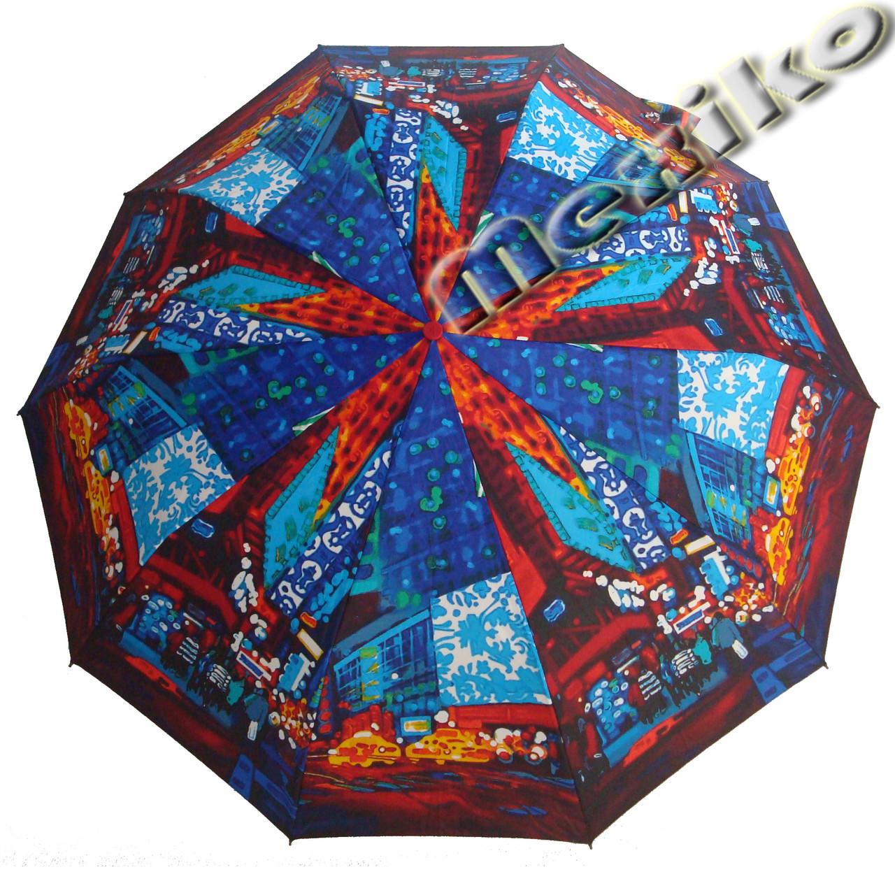 Зонт ZEST, полный автомат серия 10 спиц, расцветка Ночной город