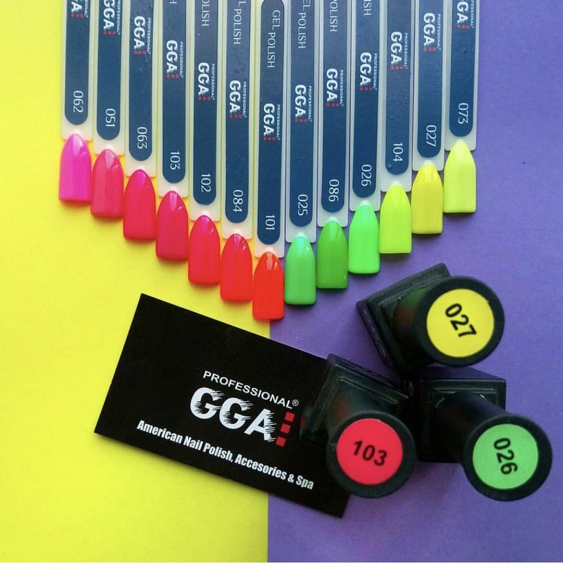 Гель-лак GGA  Professional (10 мл) разные цвета 101