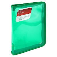 Папка на молнии Axent B5 1802-26-A прозрачная зеленая