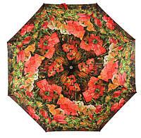 Зонт ZEST, полный автомат серия Сатин, расцветка Маки