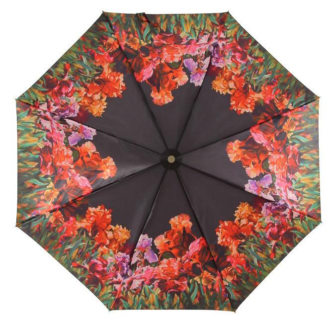 Зонт ZEST, полный автомат серия Сатин, расцветка Гладиолусы