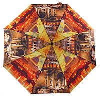 Плоский зонт ZEST 3 сложения полный автомат серия Фото, расцветка Рим