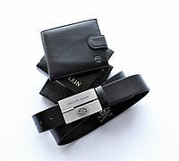 Мужской подарочный набор кошелек+ремень Philipp Plein, фото 1