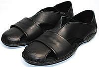 Черные босоножки сандали мужские кожаные, фото 1