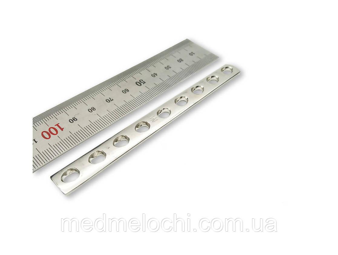 Пластина однорядка L = 110мм, D = 3,5 мм, 9 отв,