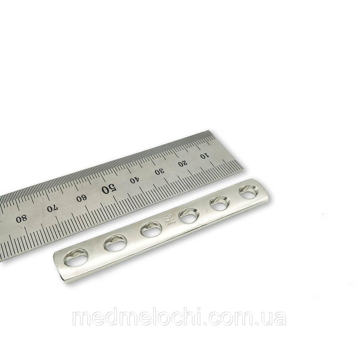 Пластина однорядка L = 74мм, D = 3,5 мм, 6 отв,