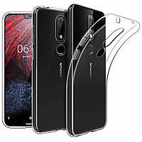 Чехол Case для Nokia 6.1 Plus силиконовый прозрачный
