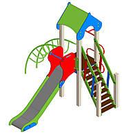 """Детский комплекс """"Одна башня"""" для детей до 6 лет, h-2990, l - 2680, w - 3032 ДК-002"""
