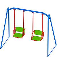 Качели двойная для детей до 12 лет L-2500, W - 1200, H- 1900 КД-002