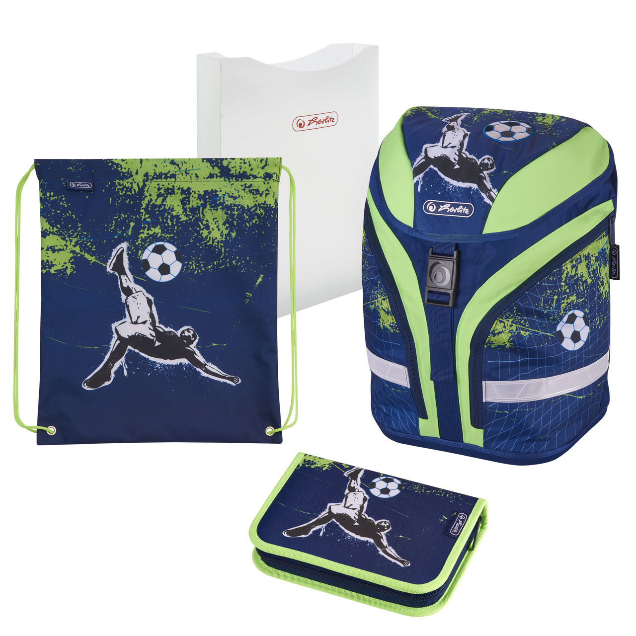 Ранец школьный укомплектованный Herlitz MOTION PLUS Kick It Футбол (50020379)