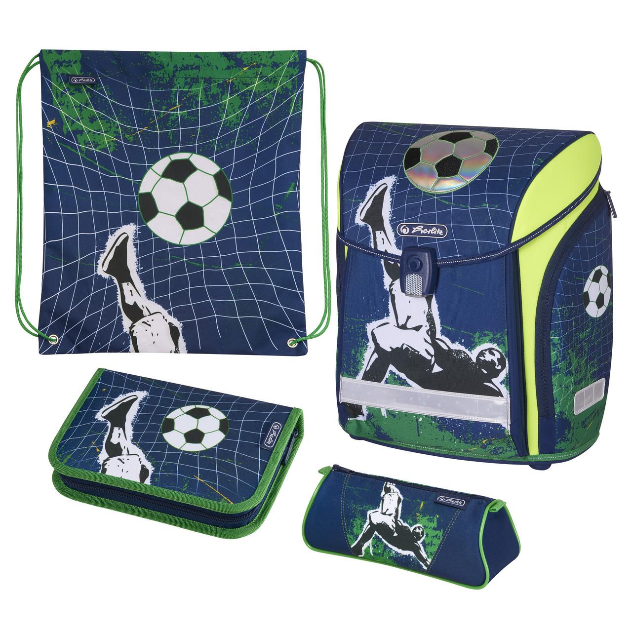 Ранец школьный укомплектованный Herlitz MIDI PLUS Kick It Футбол (50020430)
