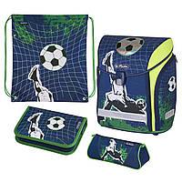 Ранец школьный укомплектованный Herlitz MIDI PLUS Kick It Футбол (50020430), фото 1