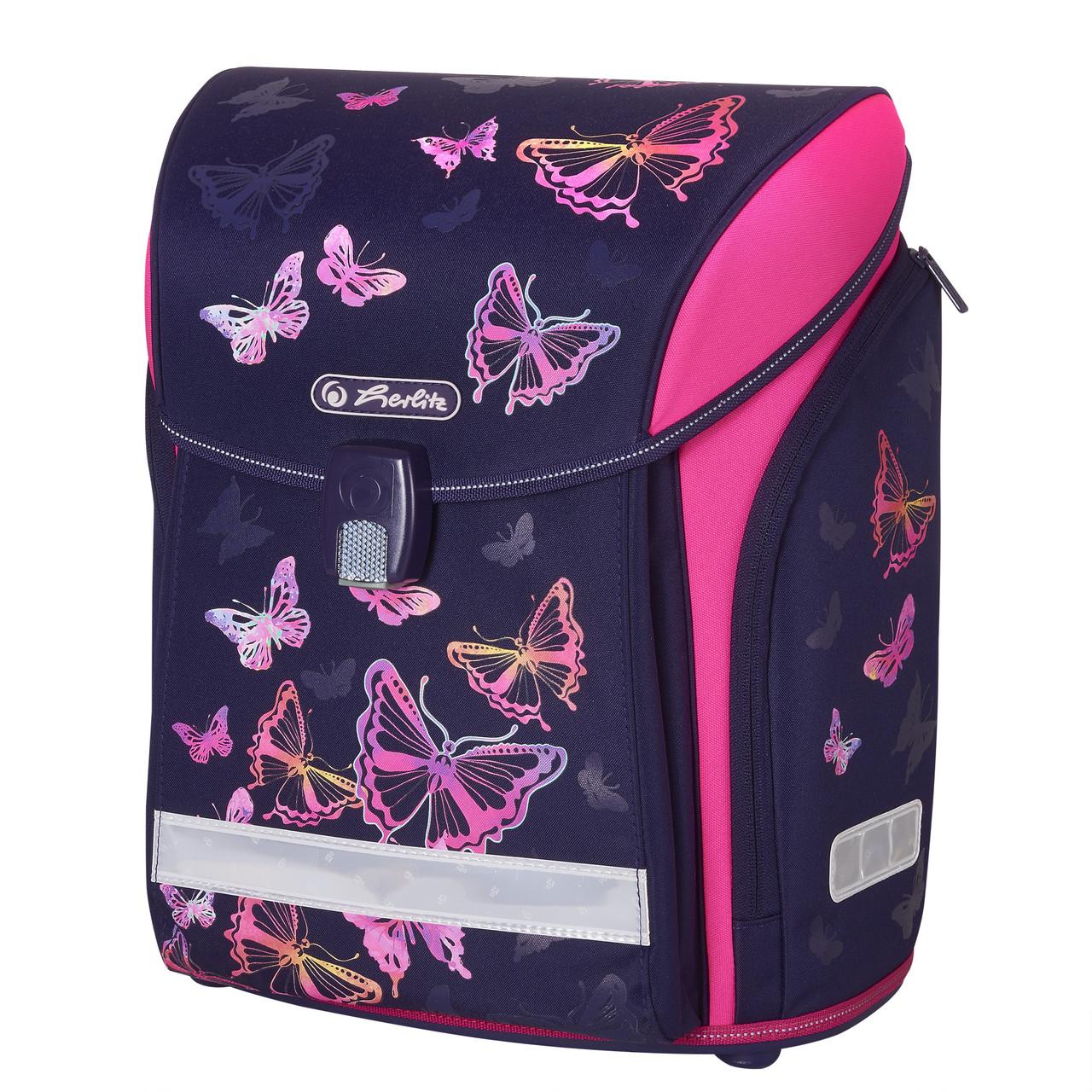 Ранец школьный Herlitz MIDI Butterfly Rainbow Бабочки (50020454)