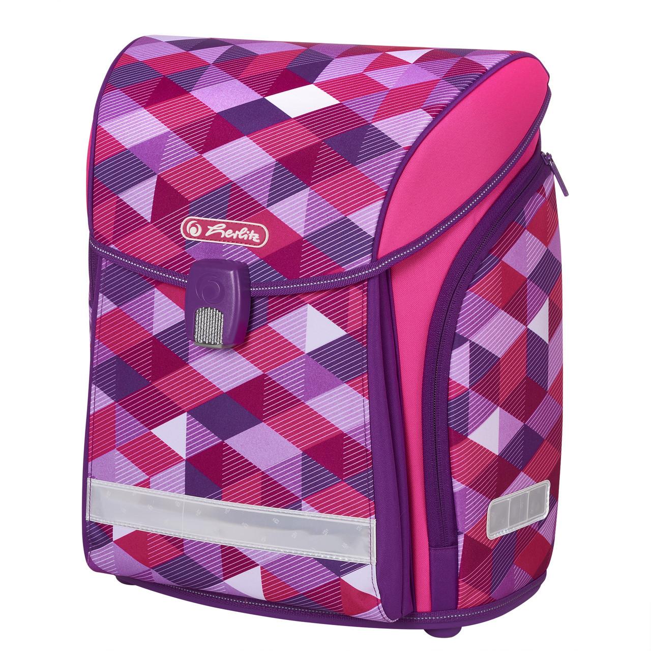 Ранец школьный Herlitz MIDI Cubes Pink Кубики розовые (50022090)