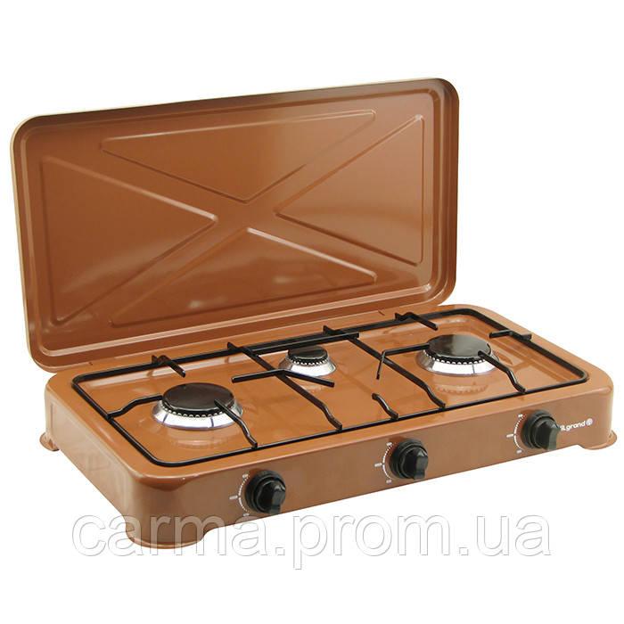 Таганок газовый VILGRAND VGP-303 3 конфорки коричневый