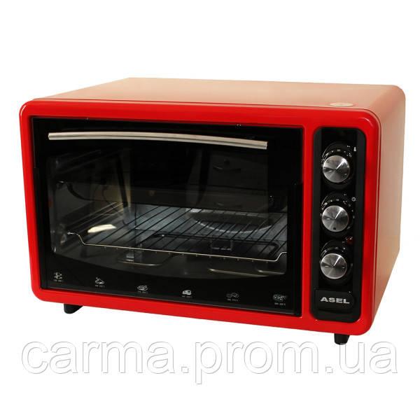 Электрическая духовка ASEL AF-0123 красная