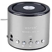 Портативная Bluetooth колонка WSTER WS A8 Серая, фото 1
