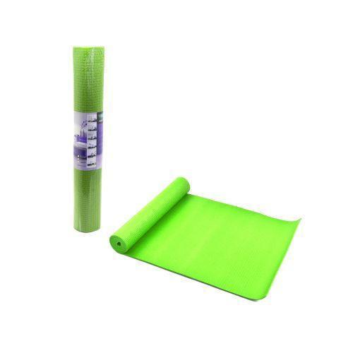 Йогамат, коврик для йоги CY0104 толщина 4мм, 173х61см зелёный