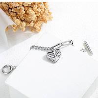 Браслет жіночий сталевий «Крила Ангела»