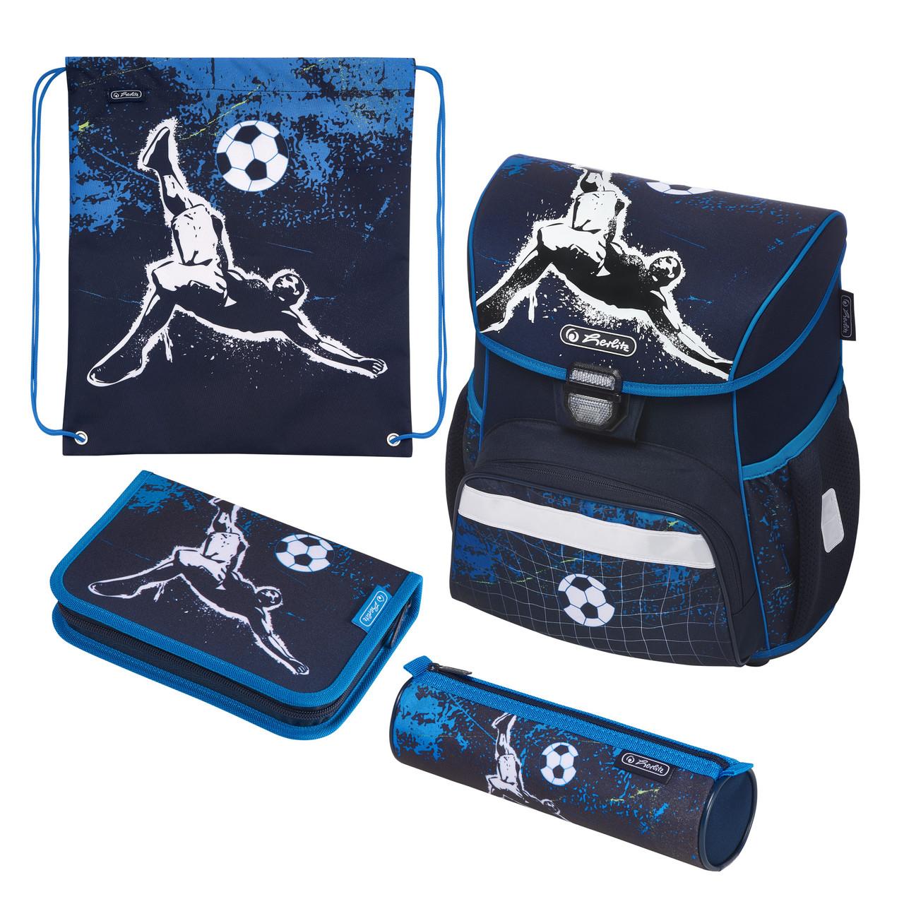 Ранец школьный укомплектованный Herlitz LOOP PLUS Kick It Футбол (50020546)